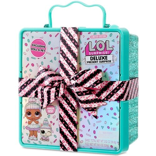 LOL Deluxe Present Surprise with Sprinkles Doll and Pet Лол Делюкс Сюрприз